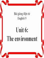 bài giảng tiếng anh 9 unit 6 the environment