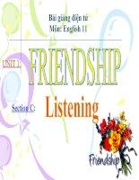 bài giảng tiếng anh 11 unit 1 friendship