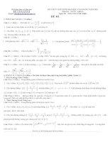 Đề thi thử số 1 môn toán 2010 theo cấu trúc của bộ GD