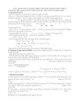 Giáo án phụ đạo hóa học 8 hay