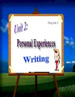 bài giảng tiếng anh 11 unit 2 personal experiences