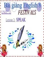 bài giảng tiếng anh 8 unit 13 festivals