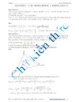 Bài toán cực trị trong hình học không gian