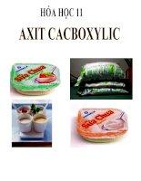 bài giảng hóa học 11 bài 45 axit cacboxylic