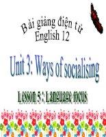 bài giảng tiếng anh 12 unit 3 ways of socialising