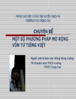 Chuyên đề Văn Một số phương pháp mở rộng vốn từ Tiếng Việt