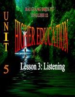 bài giảng tiếng anh 12 unit 5 higher education