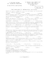 đề thi thử đại học môn vật lý có đáp án trường trần nhân tông
