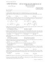 đề thi thử đại học môn vật lý có đáp án trường anh sơn