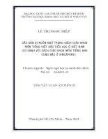 các đơn vị ngôn ngữ trong sách giáo khoa môn tiếng việt bậc tiểu học ở việt nam