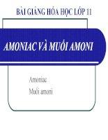 bài giảng hóa học 11 bài 8 amoniac và muối amoni