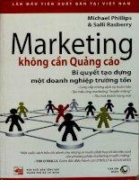 Marketing không cần quảng cáo bí quyết tạo dựng một doanh nghiệp trường tồn
