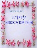 bài giảng hóa học 11 bài 36 luyện tập hiđrocacbon thơm