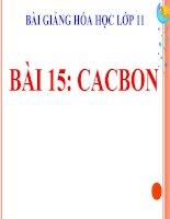 bài giảng hóa học 11 bài 15 cacbon