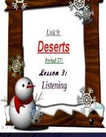 bài giảng tiếng anh 12 unit 9 deserts