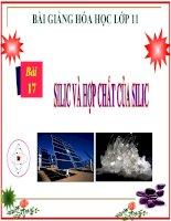 bài giảng hóa học 11 bài 17 silic và hợp chất của silic