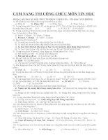 ÔN THI CÔNG CHỨC TIN HỌC: BỘ 130 CÂU HỎI TRẮC NGHIỆM VÀ ĐÁP ÁN – TIN HỌC VĂN PHÒNG