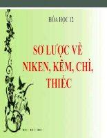 bài giảng hóa học 12 bài 36 sơ lược về niken, kẽm, chì, thiếc