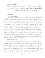 QUYỀN BÌNH ĐẲNG CỦA NGƯỜI PHỤ NỮ TRONG QUAN HỆ PHÁP LUẬT HÔN NHÂN VÀ GIA ĐÌNH.