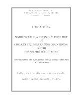 LUẬN VĂN THẠC SĨ NGÀNH XÂY DỰNG ĐƯỜNG Ô TÔ NGHIÊN CỨU LỰA CHỌN GIẢI PHÁP HỢP LÝ CHO KẾT CẤU MẶT ĐƯỜNG GIAO THÔNG ĐÔ THỊ THÀNH PHỐ HỒ CHÍ MINH