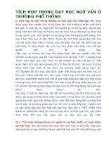 TÍCH hợp TRONG dạy học NGỮ văn ở TRƯỜNG PHỔ THÔNG