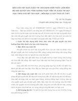 BÁO CÁO KẾT QUẢ CUỘC THI VẬN DỤNG KIẾN THỨC LIÊN MÔN ĐỂ GIẢI QUYẾT CÁC TÌNH HUỐNG THỰC TIỄN VÀ CUỘC THI DẠY HỌC THEO CHỦ ĐỀ TÍCH HỢP – MÔN ĐỊA LÍ CẤP THCS VÀ THPT
