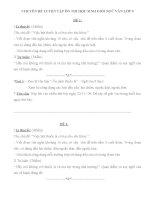 Ôn tập Ngữ văn lớp 9: Chuyên đề tổng hợp