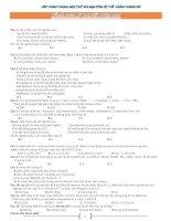 Tổng hợp lý thuyết hóa học