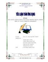 TIỂU LUẬN TOÁN ỨNG DỤNG BÀI TOÁN TÌM LUỒNG CỰC ĐẠI TRONG MẠNG THEO THUẬT TOÁN FORD-FULKERSON