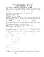 HD giải đề thi tuyển sinh Đại học năm 2014 môn HÓA khối B  Mã đề: 537
