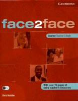 Face2face Starter Teachers Book pdf