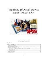 Tài liệu hướng dẫn sử dụng SPSS toàn tập ứng dụng trong nghiên cứu phân tích dữ liệu