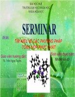 seminar đề tài tìm hiểu về các phương pháp tổng hợp phức chất