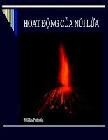bài giảng địa chất đại cương chương 13 hoat động của núi lửa