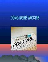 Bài giảng công nghệ vắc xin - Chương 1