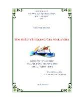 tìm hiểu về hoàng gia malaysia