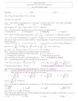 Đề thi thử đh môn vật lý có đáp án
