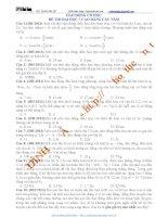 Tổng hợp trắc nghiệm dao động cơ  trong các đề thi đh