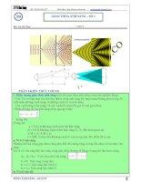 Chuyên đề giao thoa sóng ánh sáng