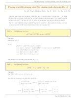 50 bài tập toán chuyên đề phương trình, hệ phương trình, bất phương trình có đáp án
