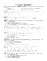 360 câu hỏi trắc nghiệm sinh học lớp 9 học kỳ 2