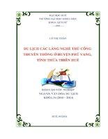 du lịch các làng nghề thủ công truyền thống ở huyện phú vang- tỉnh thừa thiên huế