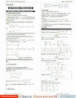 Tổng hợp các phương pháp giải hệ PT  tài liệu luyện thi đại học môn toán