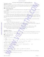 Các bài toán tổng hợp của đề thi quốc gia