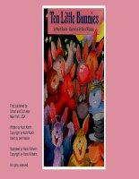 ten little bunnies by hans wilhelm