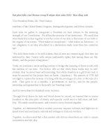 một số bài phát biểu của tổng thống OBAMA  bản tiếng anh
