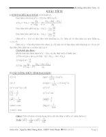Tổng hợp kiến thức toán lớp 12