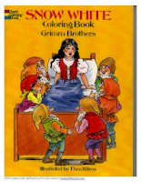 snow white coloring book grimm brothers