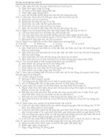 BÀI TẬP TRẮC NGHIỆM TIẾN HÓA ÔN THI 12