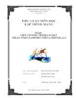 VIẾT CHƯƠNG TRÌNH CÀI ĐẶT  THUẬT TOÁN LAMPORT TRÊN SERVER (TIỂU LUẬN MÔN HỌC LẬP TRÌNH MẠNG)